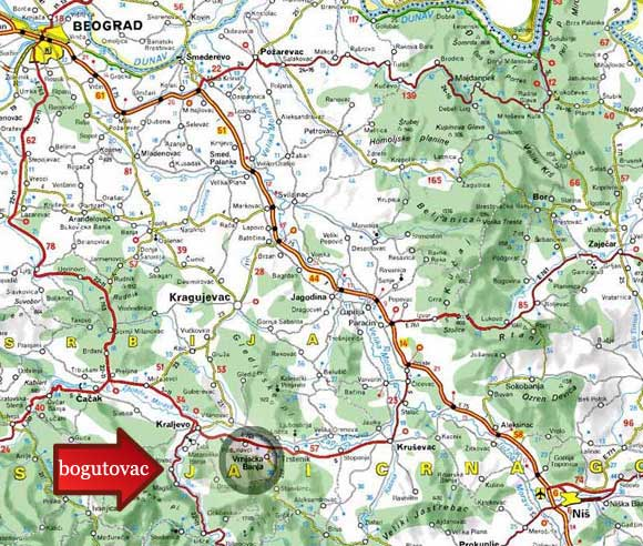 Mapa Bogutovacka Banja